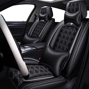 Subaru Impreza | (Передняя + задняя) кожаный и льняной чехол для автомобильного сиденья для Subaru Forester Impreza Legacy Outback Sti Tribeca Xv 2018 2017 2016 2015