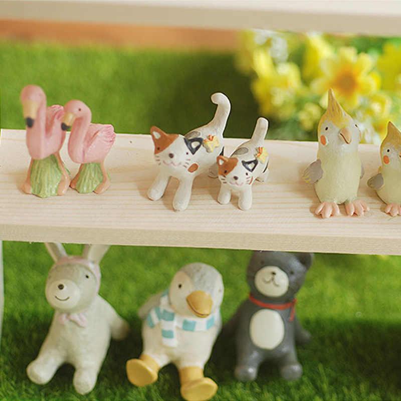 2 pcs Nhật Bản Zakka Mô Hình Con Mèo Kitten Hoạt Hình Hành Động Con Số Thu Nhỏ Bức Tượng Nhỏ Vườn nhà Đám Cưới Con Búp Bê Trang Trí Cô Gái món quà đồ chơi