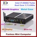 Dhl livre 8 G RAM + 64 G SSD 1 T hdd, Fanless Intel Core i7 4500U CPU Mini PC computador, Max 3.0 ghz, Htpc, 4 K dp, Intel HD4400 gráficos, Wi fi