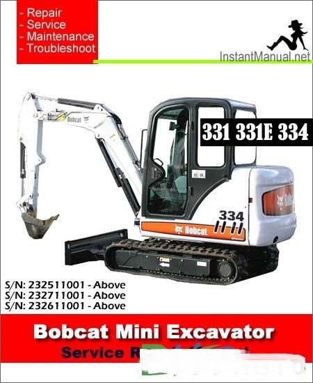Bobcat Graafmachines Service & Reparatiehandleidingen
