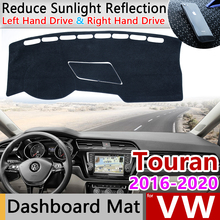 Para Volkswagen VW Touran MK2 2016, 2017, 2018, 2019, 2020 Anti Slip Mat panel de cubierta almohadilla sombrilla salpicadero proteger accesorios de coche