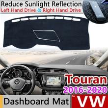 for Volkswagen VW Touran MK2 2016 2017 2018 2019 2020 Anti Slip Mat Dashboard Cover Pad Sunshade Dashmat Protect Car Accessories