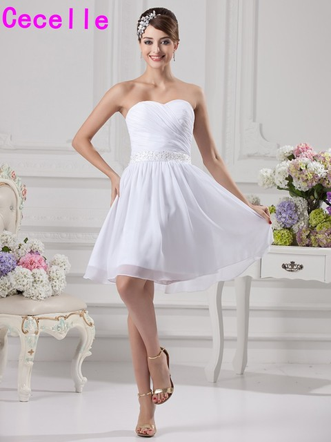 f08529810 Country Style Dresses For Weddings Luxury Sweet Flowergirl Dresses. Simple  White Short Chiffon Bridesmaid Dresses Informal Knee Lengh