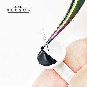 Image 4 - GLESUM Fast Dry 1 2 Sec 5 Bottle Eyelash Extension Glue 5ml Clear Black Lashes Mink Eyelashes Glue cosmetic Free Shipping