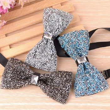Men's Luxury Diamond Crystal Gem Bowties Fashion Wedding Party Accessories gravatas Neckwear Banquet Male Bow Tie S4842