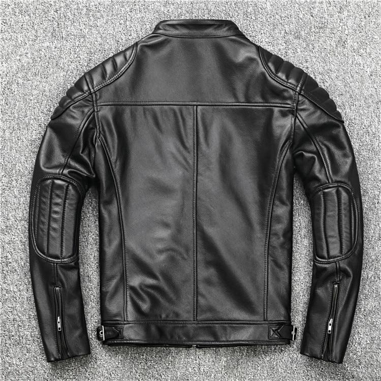 HTB1tzV4aeH2gK0jSZJnq6yT1FXay Free shipping.fashion style warm mens leather coat,biker cowhide Jacket,black genuine Leather coat.plus size homme slim,cool