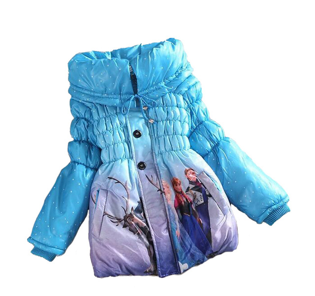 Girl winter jacket Kids coat Cartoon dwon Cotton Girl clothes winter Outerwear Coats jacket for girl For 4-8Yrs sale