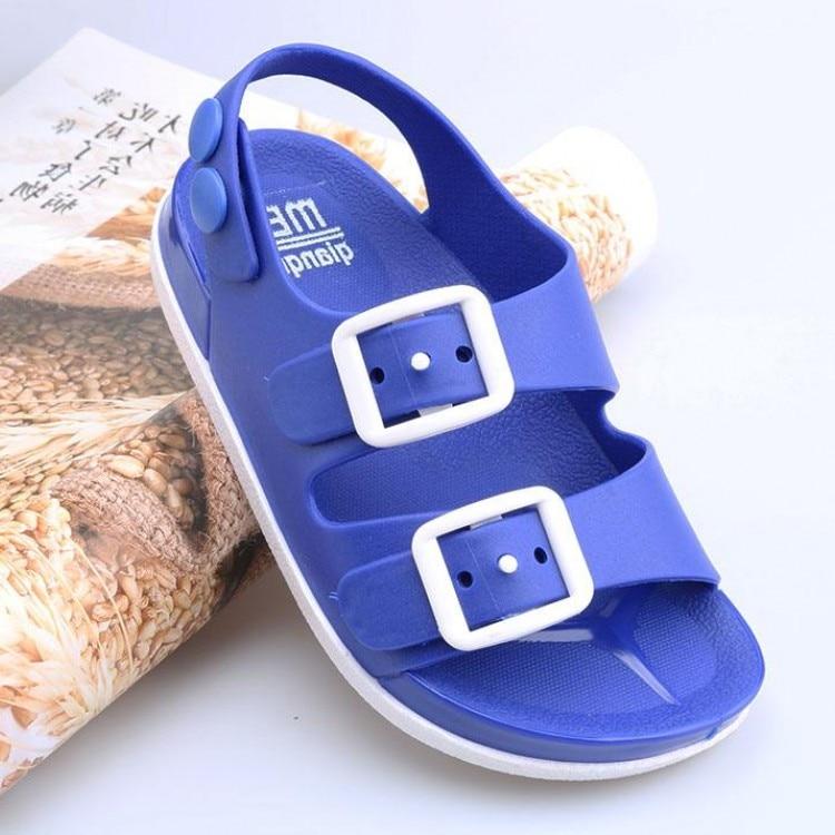 2019 Sommer Neue Kinder Sandalen Für Jungen Mädchen Strand Schuhe Kinder Garten Schuhe Jungen Flache Haus Flip Nicht-slip Home Bad Schuhe