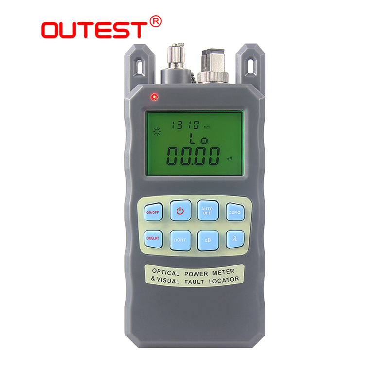 OUTEST fiber optical power meter +Visual Fault locator 10mw 2 in 1 power meter optical fiber -70 to +10dBm network tools