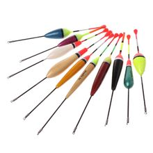 OOTDTY  10PCS/Lot Mix Size Color Ice Fishing Float Bobber Set Buoy Boia Floats For Carp Tackle Accessories for fishing