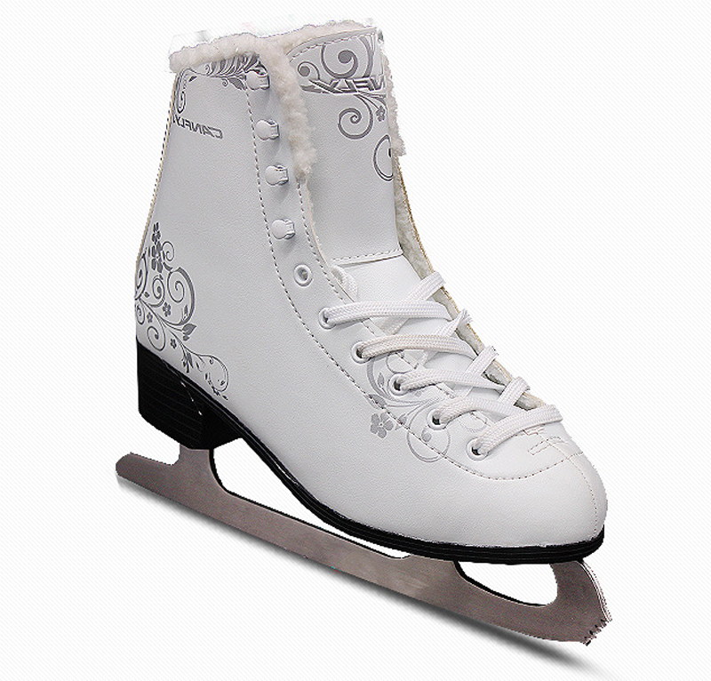 2018 Winter Adult Professional Thermal Warm Thicken Ice Skates Shoes With Ice Blade PVC Waterproof White ice skates blade skate shoes roller transform adults kids blade multi purpose ball blade full set ice skating frame blade base