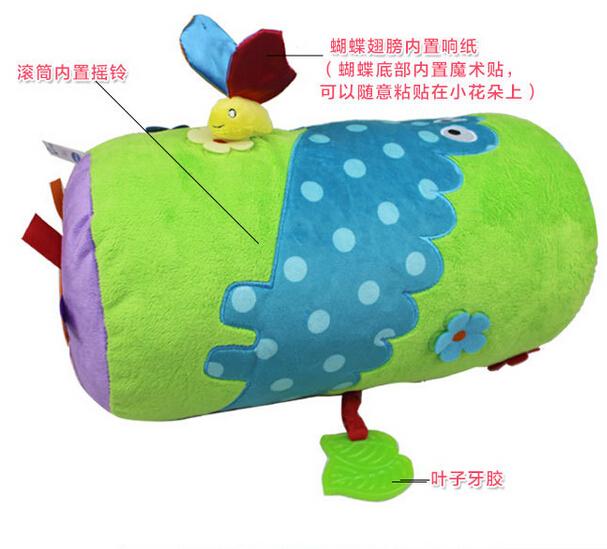 Multifuncional Rolo Bebê Travesseiro Caminhada Crawl Suba Aprendizagem Brinquedos Com Dispositivo BB Mordedor infantil Brinquedos Musicais