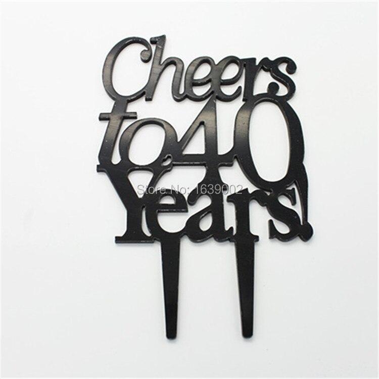 Koop gratis verzending proost 40 jaar for Decoratie verjaardag