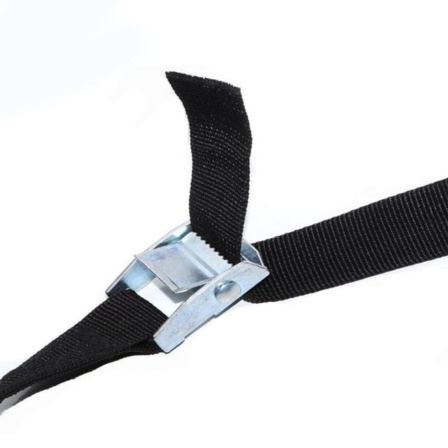 1M klamra krawat w dół pas pasy mocujące do samochodu motocykl motor z metalową klamrą lina holownicza silne pasek z klamrą qiang