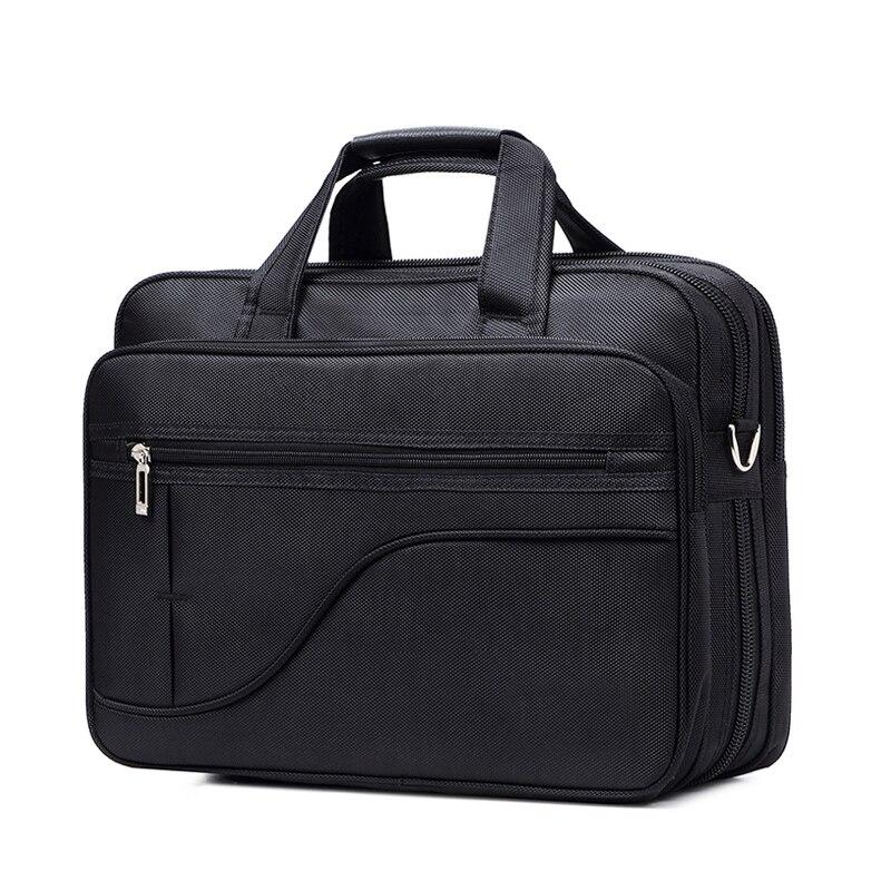 12-17 Zoll Hochwertige Herren Aktentasche Schwarz Oxford Wasserdichte Laptop Computer Tasche Große Kapazität Business Schulter Tasche Männer