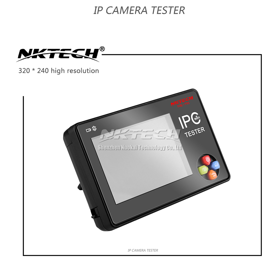 NKTECH IP Camera Tester NK-795 CCTV Security Monitor Analog CVBS Camera Test WiFi 4K 3.5 TFT Screen Audio Vedio 3000mAh Battery