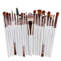 Best Quality 15pcs Makeup Brushes Synthetic Make Up Brush Set Tools Kit Professional Cosmetics Free Ship