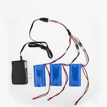 US/China plug charger 1to3 cable 7.4V 1500Mah 18650 Battery Parts For MJX T40 T40C F39 F49 T39 Syma 822 RC Helicopter Wholesale