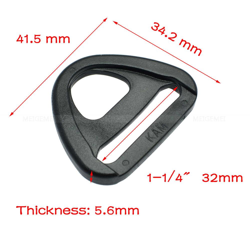 Correas de 20mm 25mm 32mm 38mm 50mm de plástico ajustador con bar clip giratorio D-anillo inserto de bucle hebilla correas de la mochila
