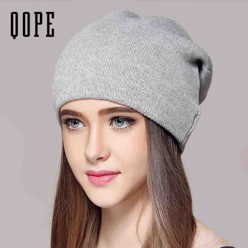 2017 New  Wool Cashmere Winter Hats For Women High Quality Warm Women'S Brand Casual Knitted Vogue Hat Female Skullies Beanies