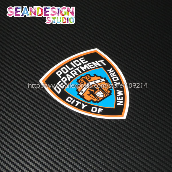 For new york city police department auto car suv motorcycle motorbike waterproof sticker decal j03