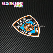 Per New York City Police Department Auto Auto Suv Motocicletta del motociclo Impermeabile Sticker Decal J03(China)