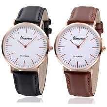 Fashion Luxury Mens Womens Neutral Gold shell Simple Leather Watch Free Shipping brand new Luxury high quality 0717
