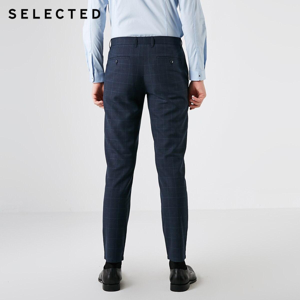 SELECTED Men's Autumn Slim Fit Plaid Casual Pants S 418314558