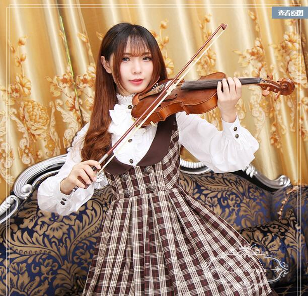 Fall 2016 new lolita font b blouse b font Japanese soft sister checked vest skirt chest