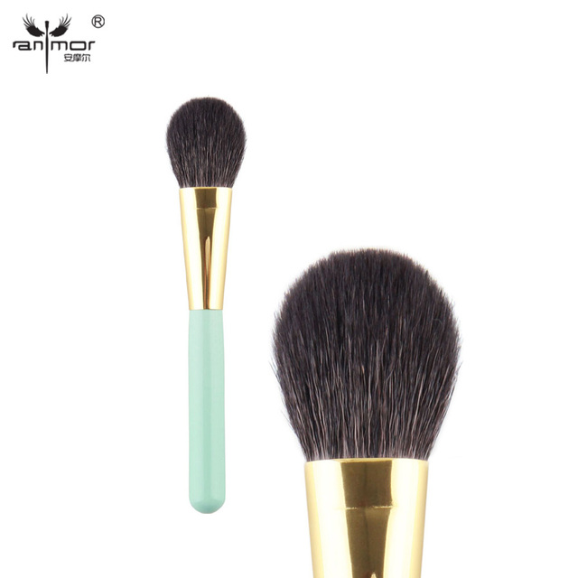 Customized Brand New Makeup Brushes & Tools Goat Hair Green Face Blush Brush MN01