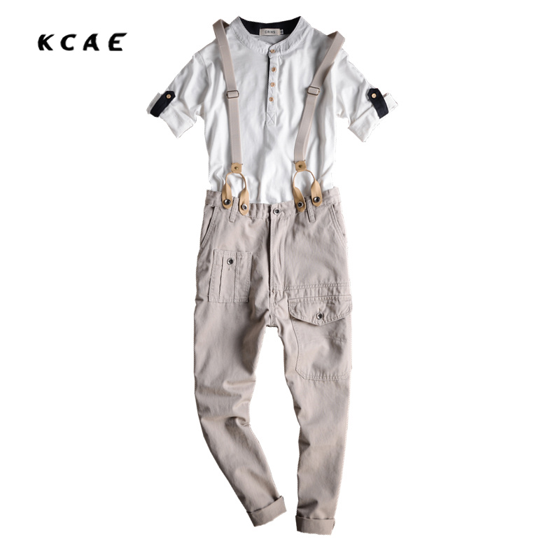 Japanese Style Mens Bib Overalls Spring Autumn Fashion Denim Overalls For Men Suspenders Jeans  Male Denim Jumpsuit Ankle length  2016 spring autumn fashion brand mens slim jeane overalls casual bib jeans for men male ripped denim jumpsuit