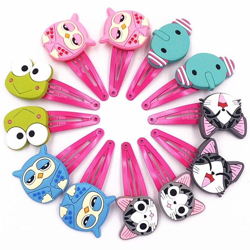 1 Los = 12 StÜcke Frosch Eule Chi Katze Elefanten Tier Haarnadeln Mädchen Haarschmuck Haarspangen Haarspange Krawatte Haar Halter Kinder Geschenk Angenehme SüßE