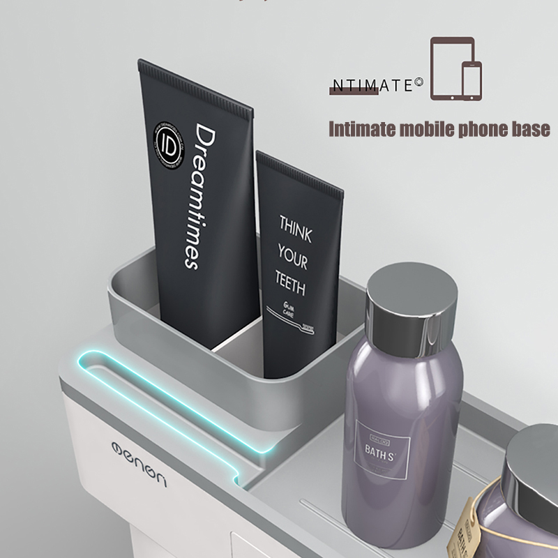 Image 5 - BAISPO Magnetic Adsorption Toothbrush Holder Inverted Cup Wall Mount Bathroom Cleanser Storage Rack Bathroom Accessories SetBathroom Accessories Sets   -