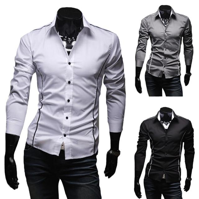 Heren Overhemd Casual.2016 Hot Heren Shirts Heren Overhemd Casual Slim Fit Stijlvolle