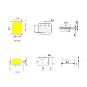 Image 2 - הטוב ביותר 100Pcs 100% מקורי Epistar SMD 5730 / 2835 שבב LED מנורת 40 55 LM נוריות דיודה אור עבור LED רצועת זרקור, הנורה מקורה