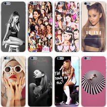 Ariana Grande Hard Transparent Cover Case for iPhone 7 7 Plus 6 6S Plus 5 5S SE 5C 4 4S