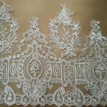 1Yard Fabric Lace Wide Refined Luxury Car Bone Wedding Dress Accessories Trim Embroidered AIWUJIA