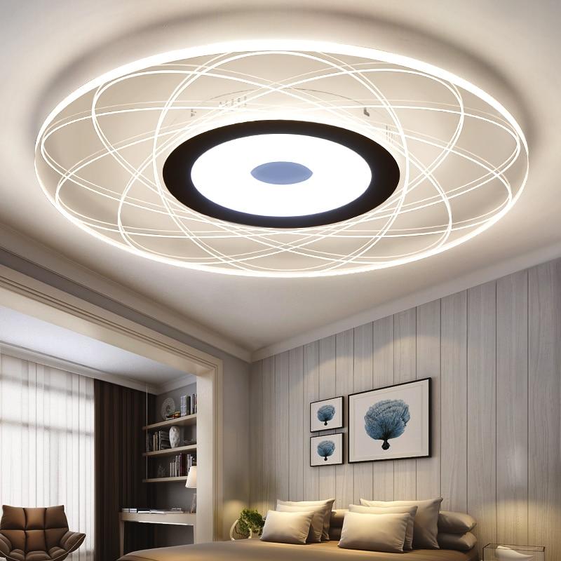 15 Ultra Modern Ceiling Designs For Your Master Bedroom: Modern Round Ultra Circular Led Ceiling Light Living Room