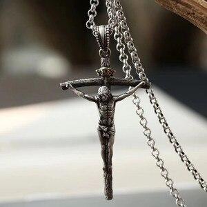 Image 3 - Colar de joias de prata esterlina 925, 65cm, 4mm, corrente de espessura, presente de natal, colar de prata thai, gargantilha de jesus & pingentes