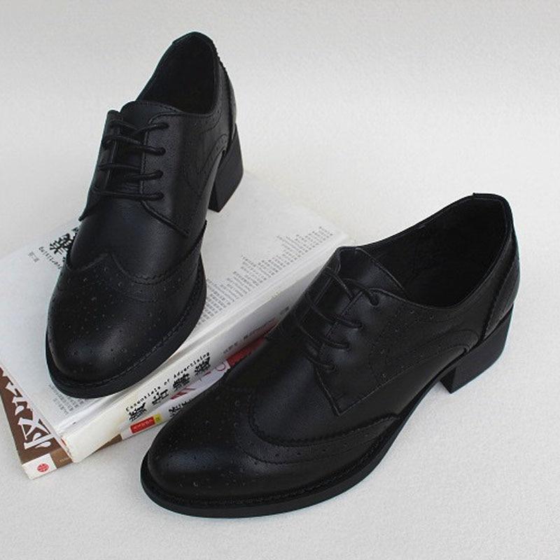 Ayakk.'ten Kadın Topuksuz Ayakkabı'de Kadın Ayakkabı Lace up Kadın Oxford Ayakkabı 100% Hakiki Deri Bayan düz ayakkabı 2019 Ilkbahar Sonbahar Kadın ayakkabı (w8133)'da  Grup 1