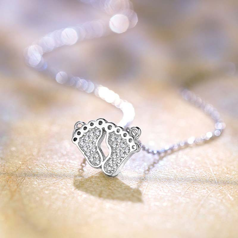 ZTUNG  GUP38   women fine jewelry,925 silver necklace with lovely  feet shape,the pendant is lady favoriteZTUNG  GUP38   women fine jewelry,925 silver necklace with lovely  feet shape,the pendant is lady favorite