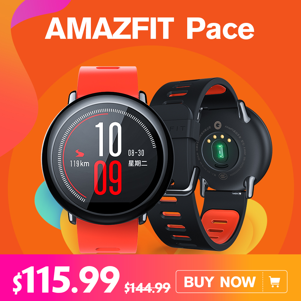 Английская версия Xiaomi AMAZFIT темп Huami для Mifit Смарт часы Bluetooth gps Smartwatch Носимых устройств сердечного ритма Android IOS