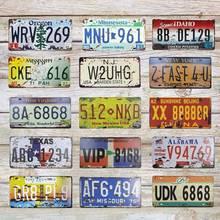 USA Vintage Metal pintura placa hojalata estaño carteles ruta Oregon Garage placa cartel decoración de pared para Bar 30*15CM C3