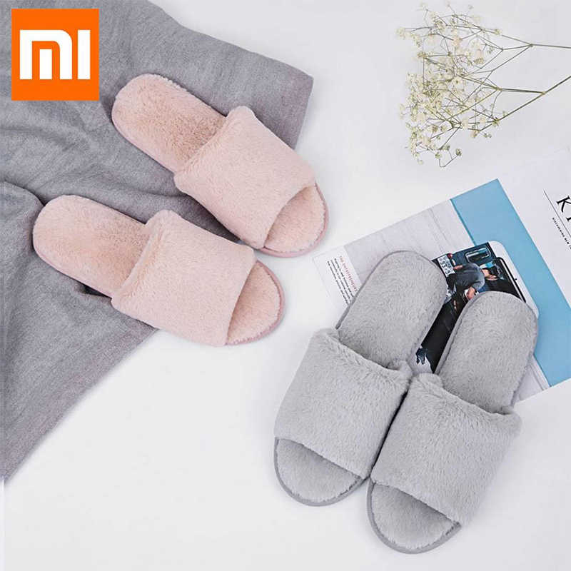 Оригинальный Xiaomi One Cloud/зимние женские домашние тапочки; милые розовые мягкие туфли для отдыха с искусственным кроличьим мехом; домашние тапочки