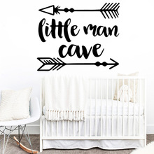 Fun little man cave Frase Wall Decal Vinyl Wallpaper For Kids Baby Room Pvc Sticker Bedroom Decoration Mural Decals