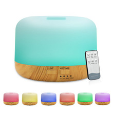 11W AC 100-240V 300ML Essential Oil Diffuser Remote Control Air Humidifier with Color Changing LED Light Ultrasonic Mist Maker