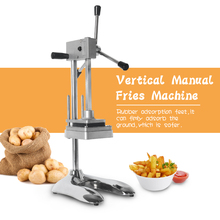 GZZT Vertical Manual French Fries Maker Potato Chip Cutter Machine With 3 Blades Vegetable Fruit Cutting machine Kitchen Tools недорго, оригинальная цена