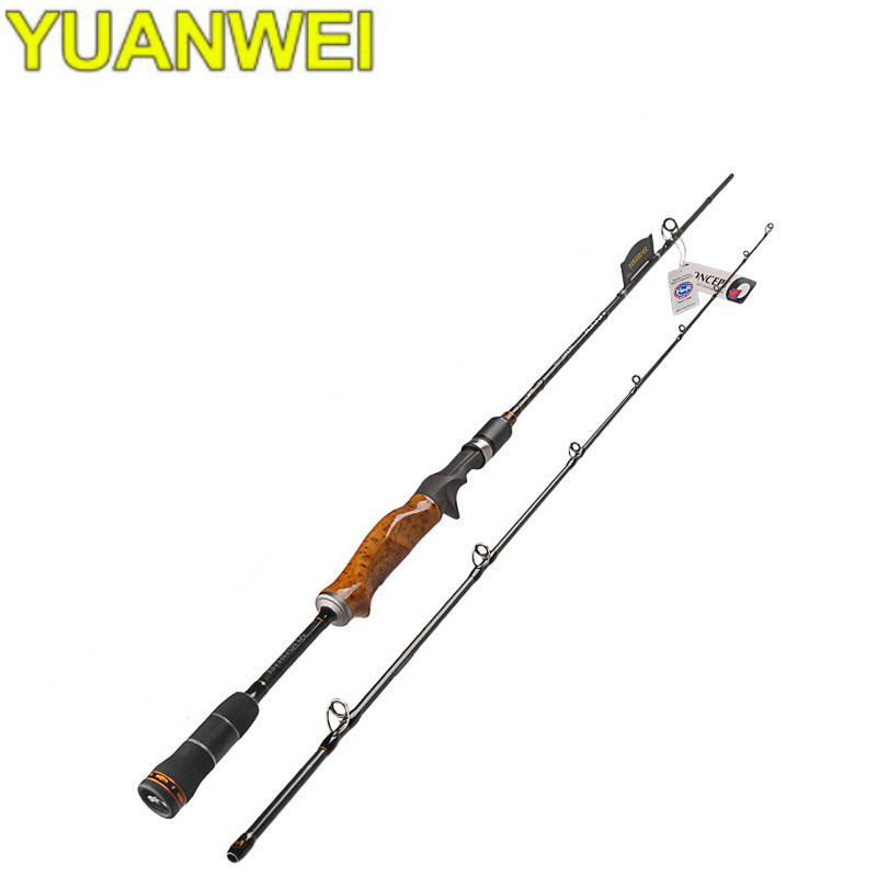 YUANWEI 1.98m 2.1m Casting Fishing Rod 2 Sections Power ML/M/MH Lure Rod FUJI Guides and FUJI Reelseat Wood Handle Fishing Rod