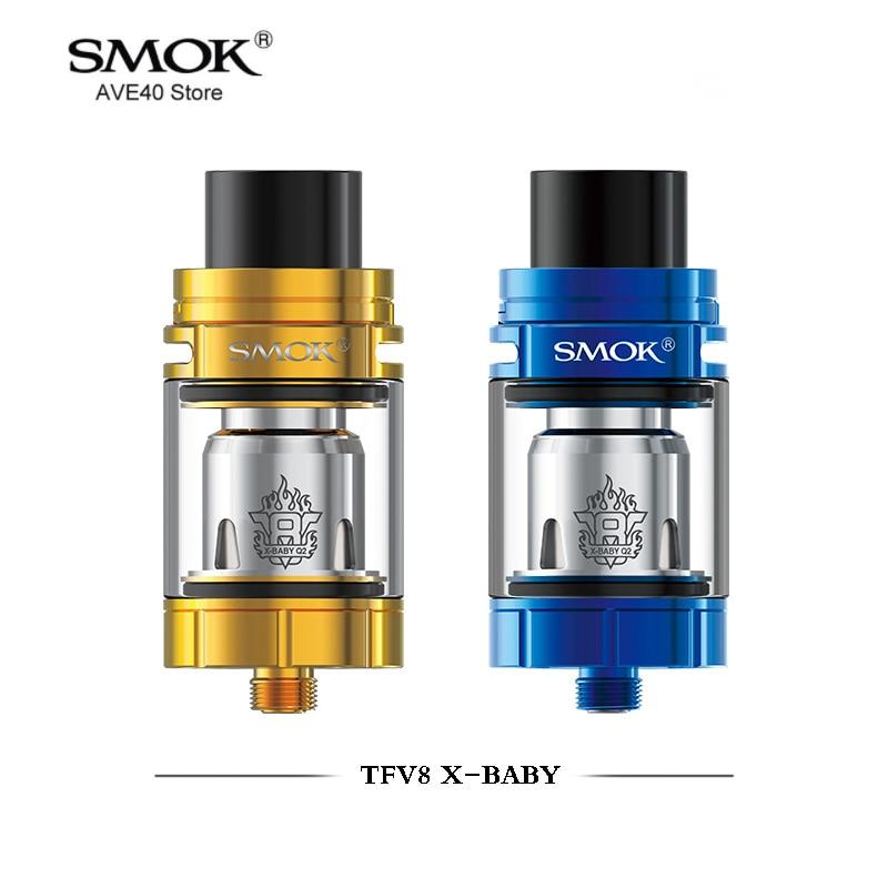 100 Original Smok TFV8 X Baby Tank 4ml Top Filling Adjustable Airflow TFV8 X Baby Atomizer