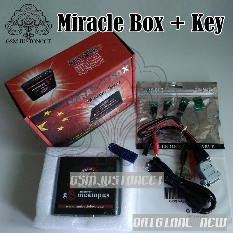 Vendita calda Originale Miracle box + Miracolo chiave con i cavi (2.88 calda di aggiornamento) per la cina telefoni cellulari Sbloccare + Riparazione di sblocco